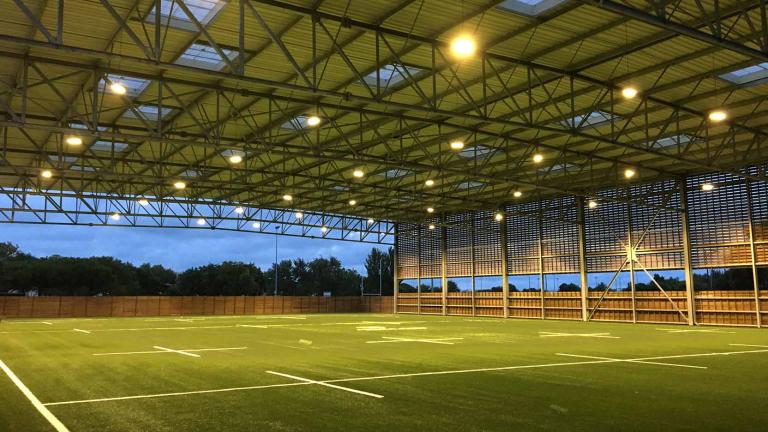 Rugby: Construction de l'Apivia Parc, centre de performance pour le stade Rochelais