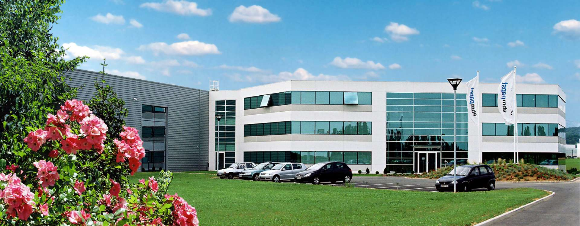 The head office of EBM Papst in Obernai, exemplary industrial buildings