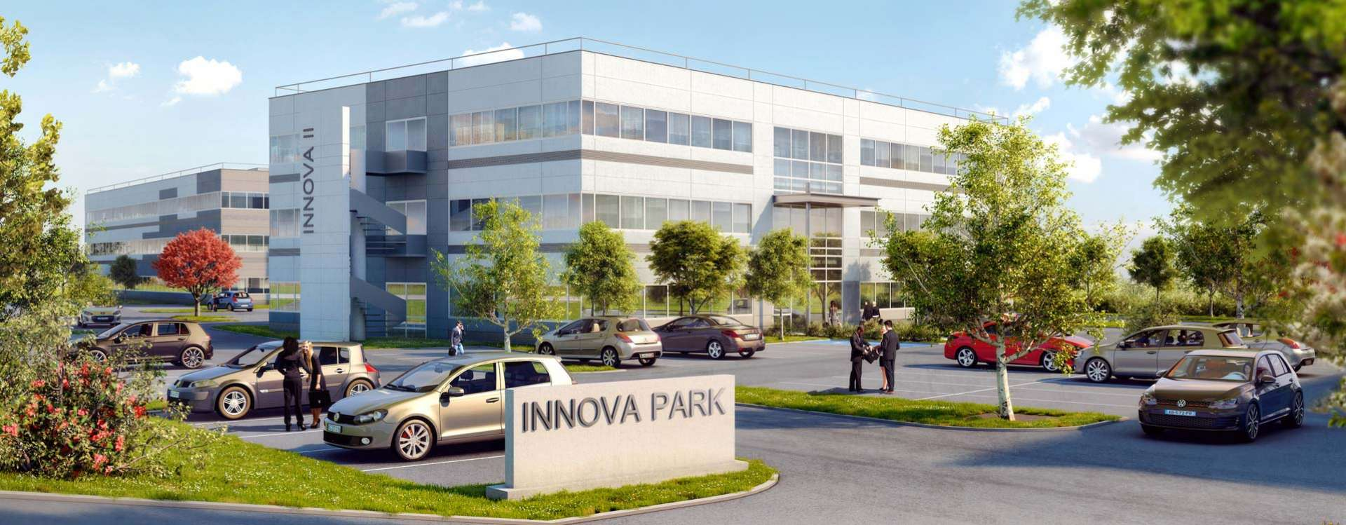 InnovaPark, 3 leasehold office buildings in Vaulx Milieu, in Isère