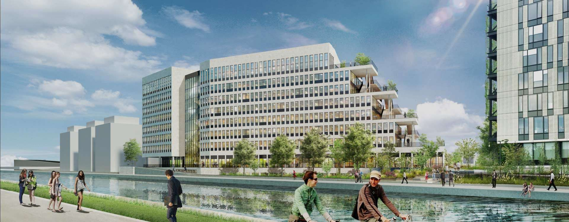 Irrigo: 16,300 m² of offices for lease along the banks of the Ourcq Canal