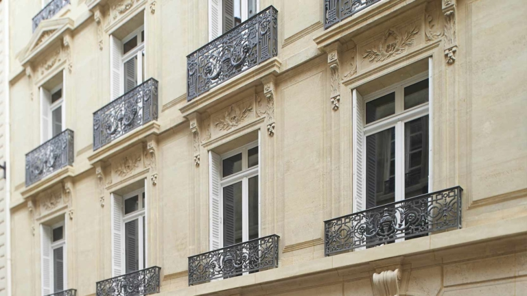 Renovation by GA on the Haussmann-style corporate office building at 6 rue Cambacérès in Paris