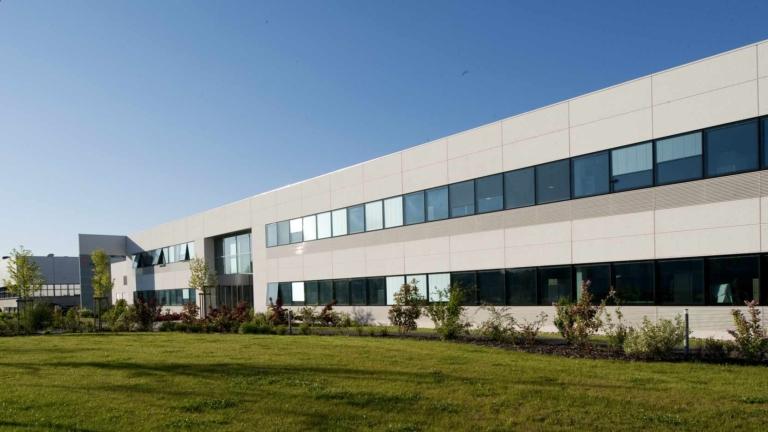Transgène à Illkirch, bâtiment industriel pour la recherche en biotechnologie