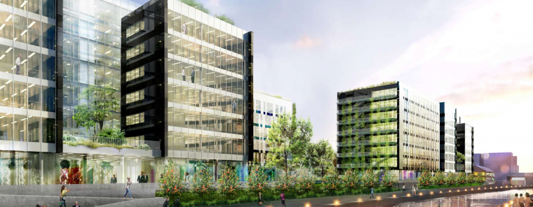 Luminem : un immeuble de bureaux aux ambitions environnementales fortes sur le canal de l'Ourcq