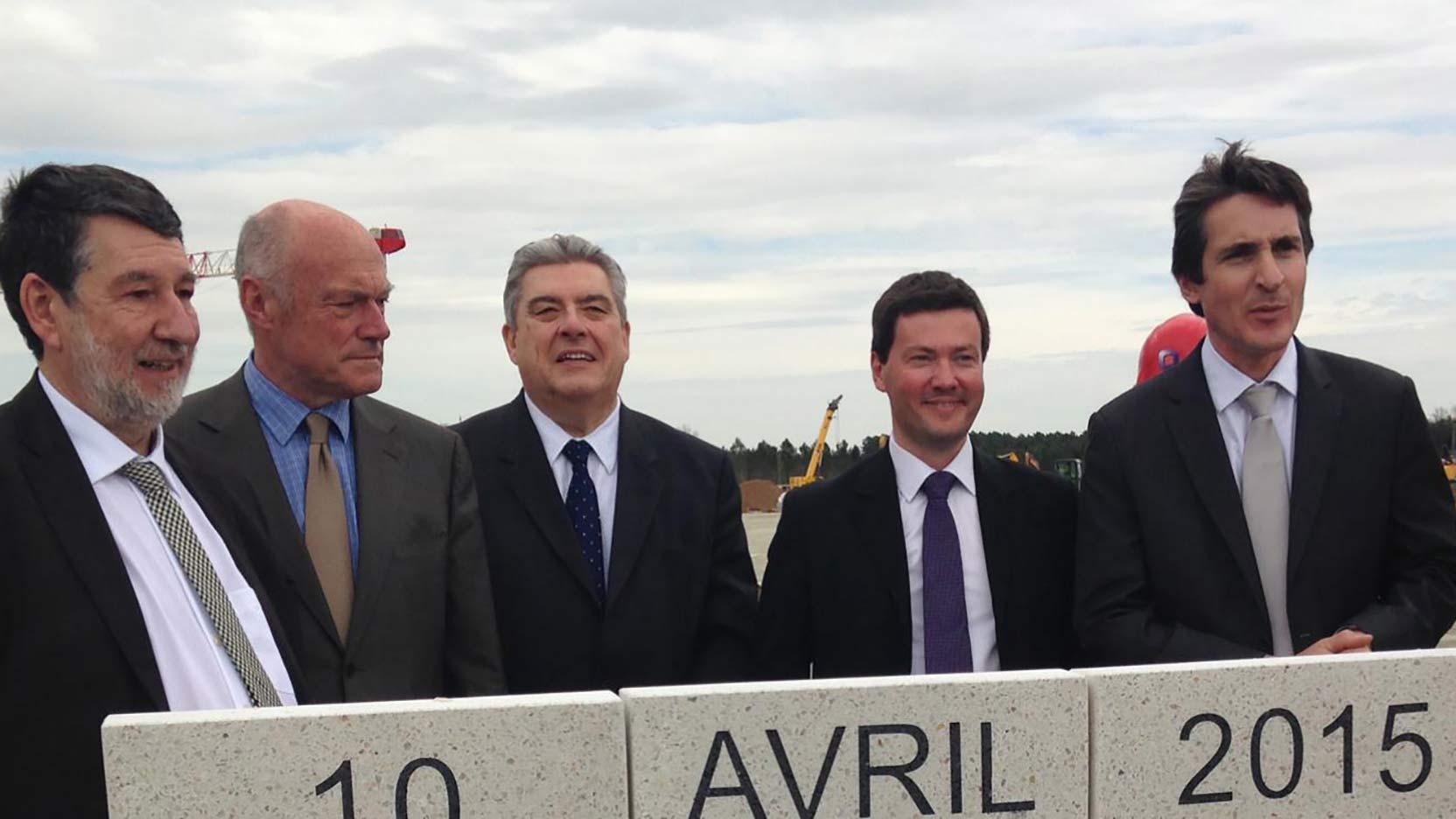 Pose de la première pierre du Campus Thales Bordeaux