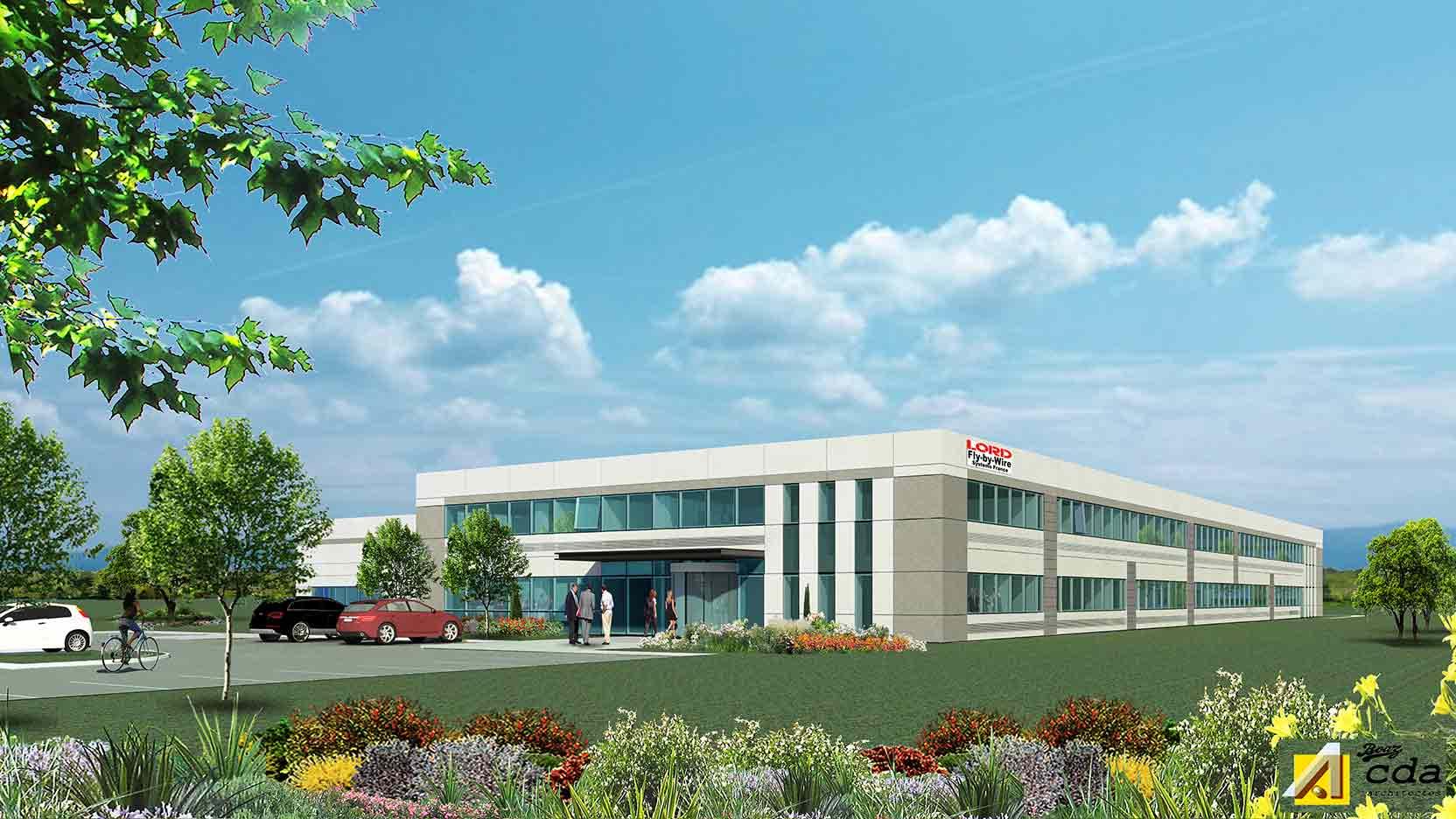 Le Groupe GA va réaliser un ensemble immobilier industriel pour le géant américain Lord Corporation à Pont-de-l'Isère