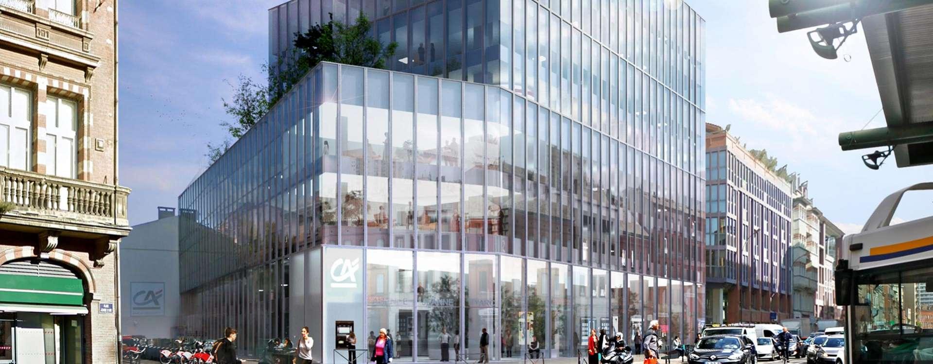 GA réalise la rénovation du siège social du Crédit Agricole à Toulouse