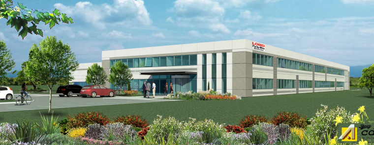 Groupe GA to build an industrial property complex for american giant Lord Corporation at Pont-de-l'Isère