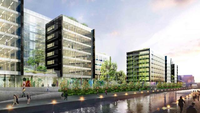 BNP Paribas Immobilier et le Groupe GA posent la première pierre de Luminem, un immeuble de 18 000m² de bureaux à Bobigny
