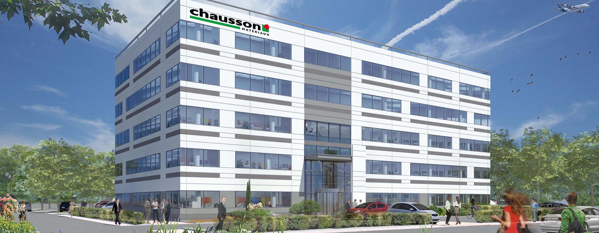 Le Groupe GA va réaliser le futur siège social de Chausson Matériaux