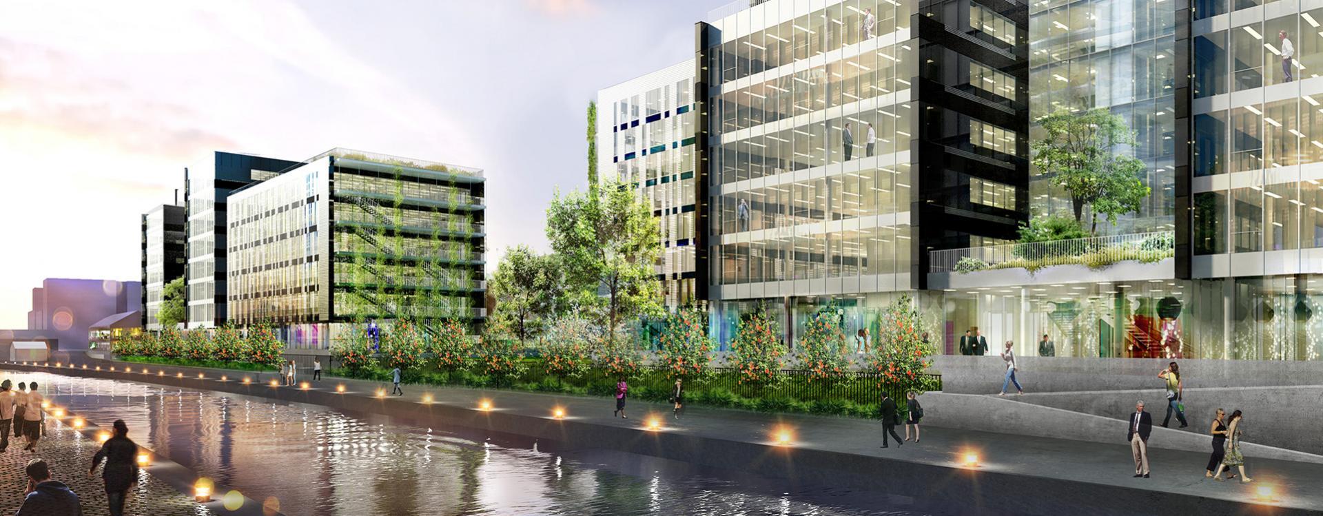 Séquano Aménagement signe un acte de vente avec BNP Paribas Immobilier et le groupe GA pour 18 000 m² de bureaux le long du canal de l'Ourcq à Bobigny
