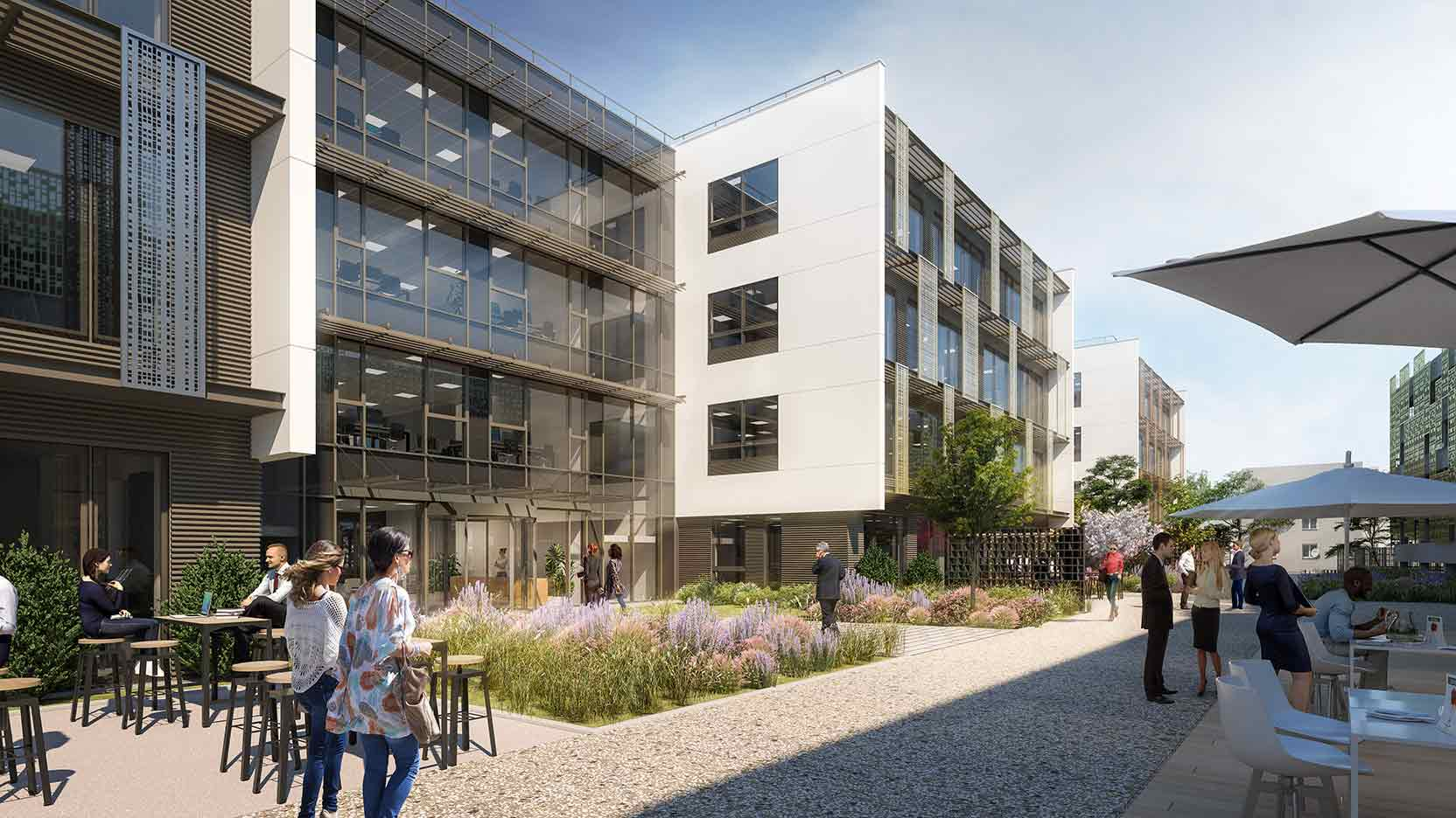 """GA Smart Building has launched the """"NOW Living Spaces"""" Campus, with a first building leased to the Alten Group and three other office buildings being marketed."""