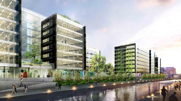 Luminem: an office building with ambitious environmental goals along the Canal de l'Ourcq