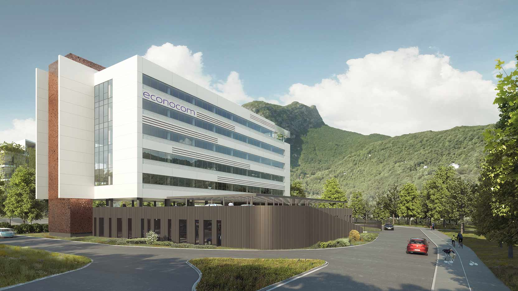 GA lays the foundation stone of Econocom's new expertise and digital support centre in St-Martin-Le-Vinoux