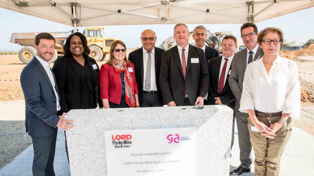 GA Smart Building and the american giant Lord Corporation have laid the first stone for the Fly-By-Wire France industrial real estate complex in Pont-de-l'Isère