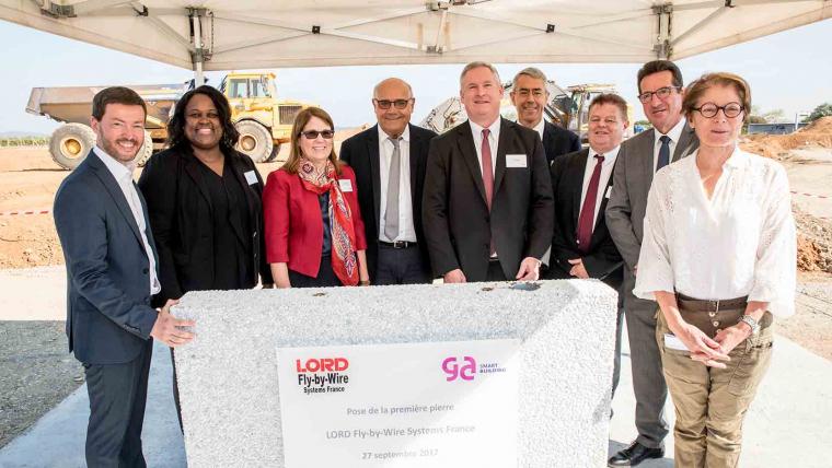 GA Smart Building et le géant américain Lord Corporation posent la 1ère pierre de l'ensemble immobilier industriel de Fly-By-Wire Systems à Pont-de-l'Isère