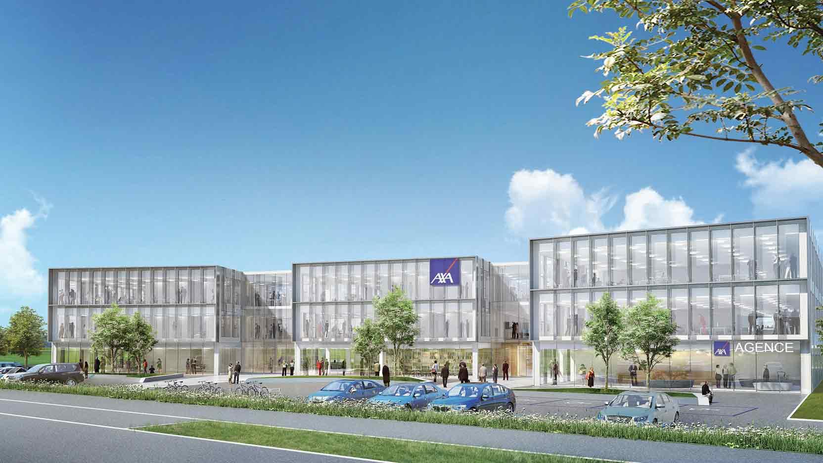 The GA Group lays the cornerstone of Sunny, the new regional headquarters of AXA France near Rouen