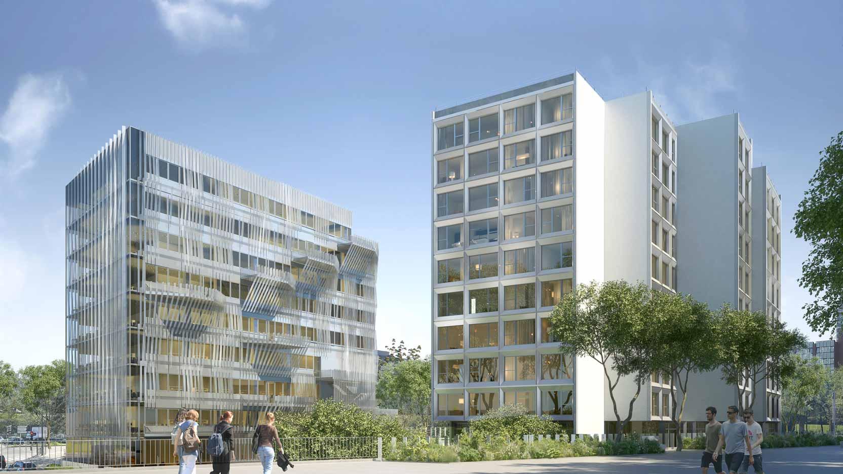 GA pose la 1ère pierre de Gymnote, un ensemble immobilier de 11 000 m² à Cergy-Pontoise