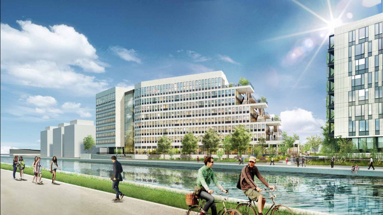 Irrigo: 16,300 m² of offices for lease in Bobigny, along the banks of the Ourcq Canal
