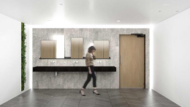 Modules sanitaires hors-site pour les immeubles de bureaux