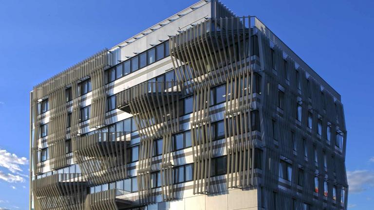 Gymnote I, un immeuble de bureaux pour Ramsay Santé à Cergy