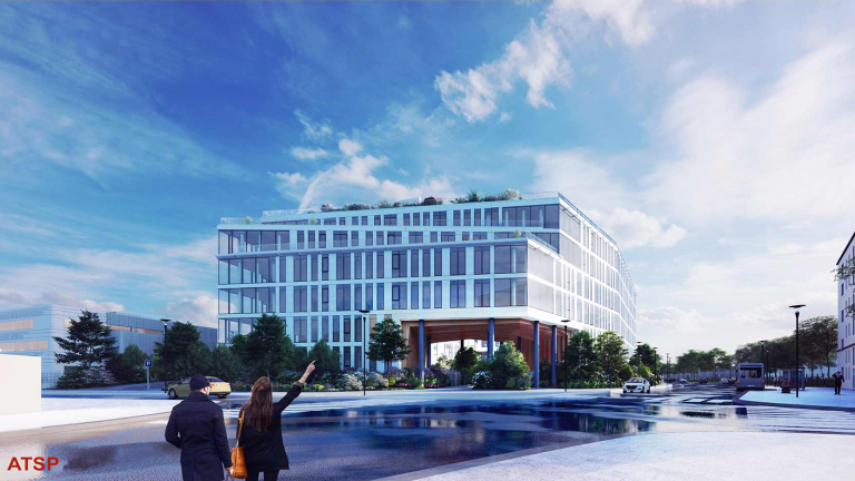 GARDENS, the future headquarters of the UP Group in Gennevilliers