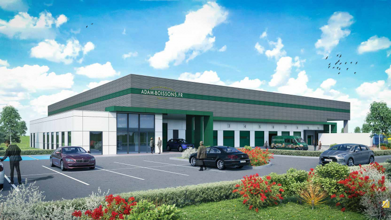 A new mixed tertiary-storage industrial site for Adam Boissons in Valff (67)