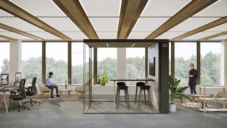 "Our new ""Atom Wood"" off-site wood and concrete floor receives the ""special selection"" from the Low Carbon Influencers Hub"