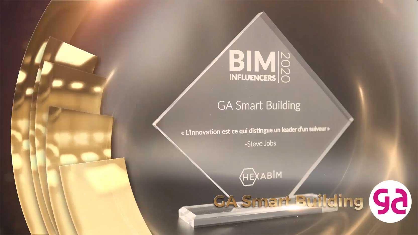 Nous avons été élus BIM Influencer 2020 lors du prix annuel organisé par HEXABIM !